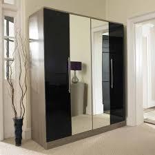 black wardrobe with mirror lynx door sliding wardrobe with mirror