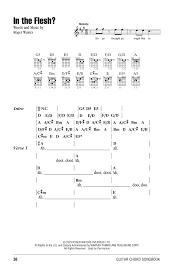 Pink Floyd Comfortably Numb Lyrics And Chords In The Flesh Sheet Music By Pink Floyd Lyrics U0026 Chords U2013 161707