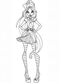 winx club flora coloring free printable coloring pages