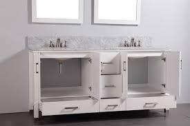 Contemporary Bathroom Vanity Cabinets Legion 72 Inch Contemporary Bathroom Vanity White Finish Vanities