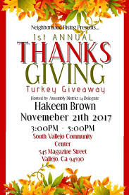 thanksgiving turkey giveaway vallejo arts entertainment