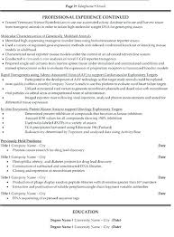 resume templates and exles science resume template