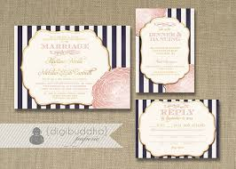 Wedding Invitations And Rsvp Cards Blush Pink U0026 Gold Wedding Invitation Rsvp Info Card 3 Piece