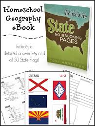 homeschool geography state notebooking pages ebook with answer