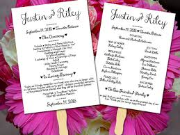 diy wedding ceremony program fans diy wedding program fan template ceremony program