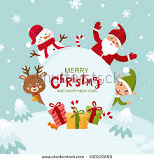 christmas greeting cards merry christmas greeting card happy new stock vector 500120899