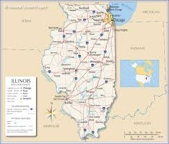 Iowa Map With Cities Reference Map Of Illinois Usa Nations Online Project