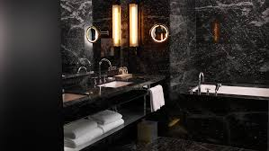 black tile bathroom ideas comfortable 31 bathroom with tiles on the hazelton hotel