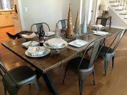 farmhouse table with metal chairs dining room chairs metal astonishing black metal dining room chairs