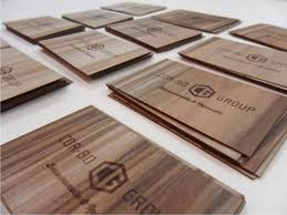 wooden business cards with laser engraving microwood