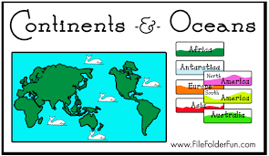 free continents u0026 oceans file folder game free homeschool deals