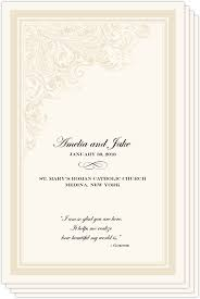wedding bulletins exles wedding programs and program wording templates by culture
