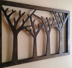 trees forest wood wall decor rustic home handmade michigan