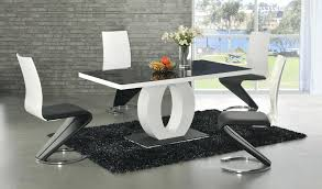 black glass dining room sets dining table and 6 black leather chairs glass extending 4 7 piece