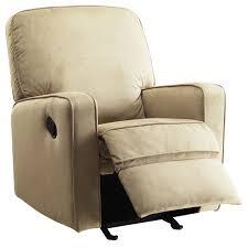 Rocking Recliner Chair For Nursery Bentley Camel Brown Fabric Modern Nursery Swivel Glider Recliner