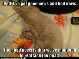 Good News Meme - well i ve got good news and bad news lolcats lol cat memes