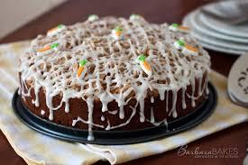 carrot raisin coffee cake recipe from barbara bakes