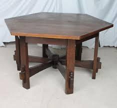 Oak Table L Anatique Mission Oak Hexagonal Library Table L Jg Stickley Arts