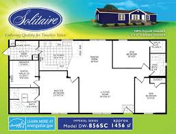 5 bedroom floor plans 2 floorplans for wide manufactured homes solitaire homes