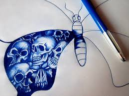 skull butterfly tattoo wip by r0binjonsson on deviantart