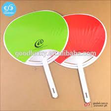 plastic fans guangzhou wholesale printed plastic fan customized cheap manual