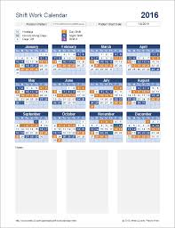Excel Shift Schedule Template Shift Work Calendar For Excel