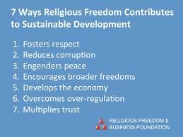 seven ways religious freedom contributes to sustainable