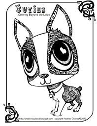 creative cuties dog cutie coloring page