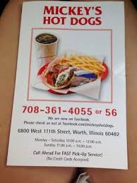 cuisine mickey mickey s dogs 6800 w 111th st worth il hamburger