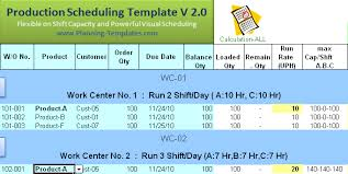 Capacity Planning Excel Template Free Production Plan Part 2 Xls File Excel About