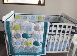 Nursery Bed Sets 8 Boy Baby Bedding Set Whale Nursery Quilt Bumper