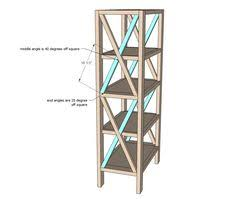 ana white build a rustic x tall bookshelf free and easy diy