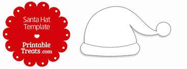printable santa hat template u2014 printable treats com
