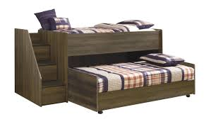 Bed Frame Caster Furniture Juararo Loft Bed With Caster Bed And Left Storage