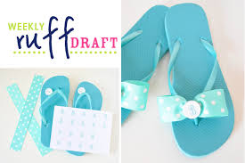 Decorate Flip Flops Ruff Draft Diy Monogram Flip Flops From Party On A Dime Charity