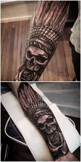 Skull Arm - best 25 indian skull tattoos ideas on indian skull