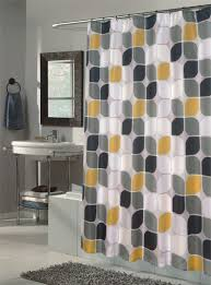 Black Gray Curtains Yellow Black And Gray Shower Curtain Shower Curtains Ideas