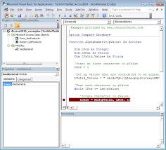 ms access 2010 vba debugging introduction
