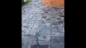 Best Way To Clean A Slate Floor by Cleaning Slate On A Client U0027s Patio Youtube