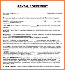 rental agreement sample basic lease rental agreement form sample