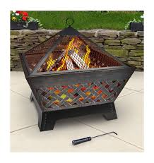 amazon com landmann 25282 barrone fire pit with cover 26 inch