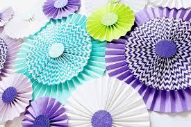 paper fans decorations paper rosettes chevron pinwheels pinwheel backdrop paper