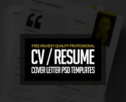 free cover letter template for resume free professional cv resume and cover letter psd templates