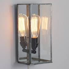 Mirrored Wall Sconce Glass Rectangle Nora Wall Sconce World Market