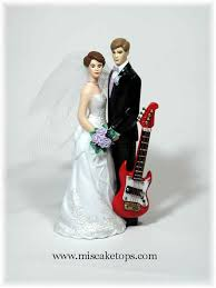 guitar cake topper exles of hobbies and interests wedding cake toppers
