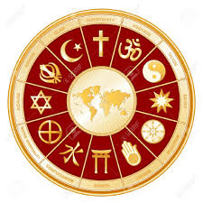 World Religions Map by World Religions Surrounding Earth Map Islam Christianity