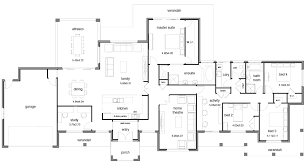 floor plans for narrow blocks ingenious idea new zealand home floor plans concrete block house