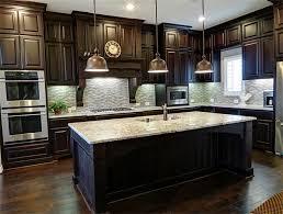 Kitchen Dark Wood Kitchen Cabinets On Kitchen Regarding  Dark - Dark kitchen cabinets