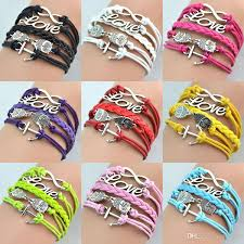 infinity braid bracelet images New hot infinity bracelets antique charm love owl anchor infinity jpg