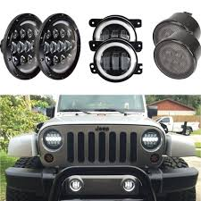 stock jeep headlights 7 inch cree led headlight indicator turn light fog light for jeep